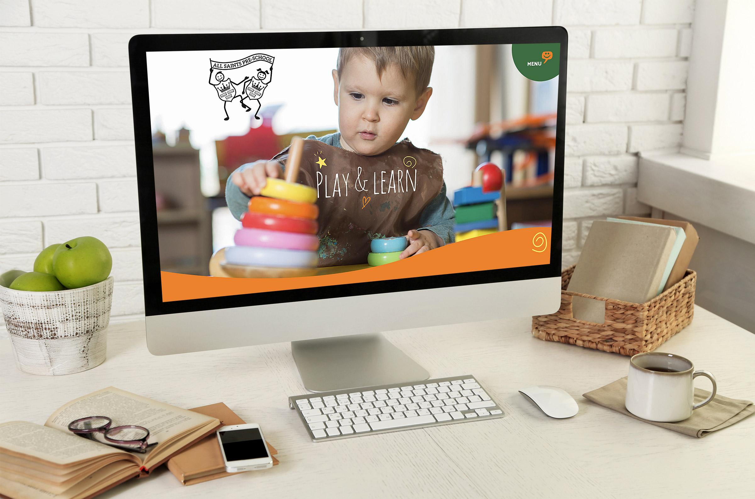 All saints pre-school website design