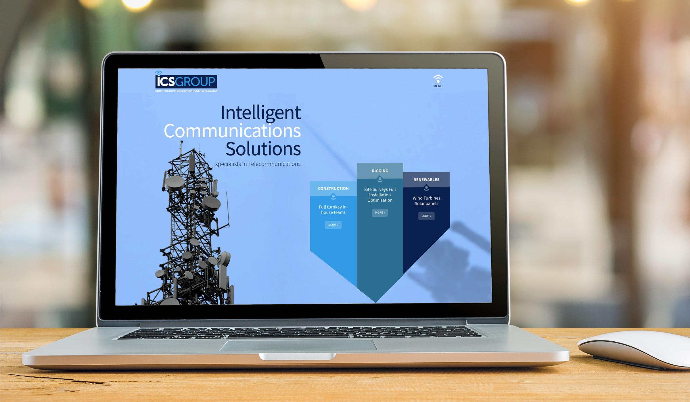 ICS Group website design