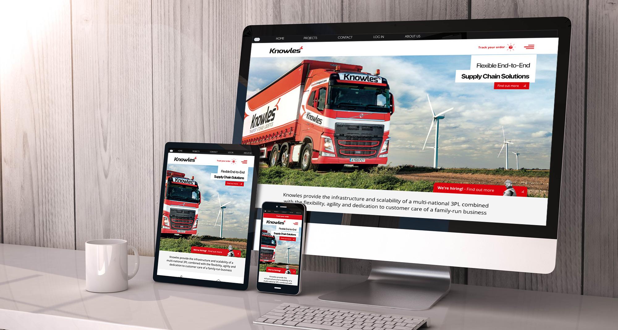 Knowles Transport website design