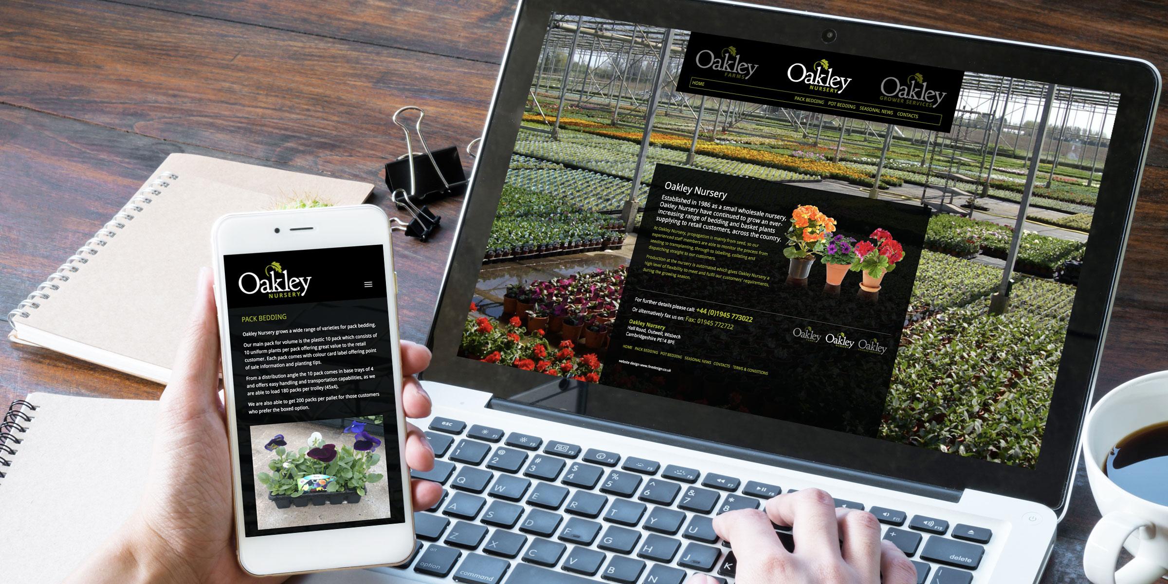 Oakley Farms responsive website