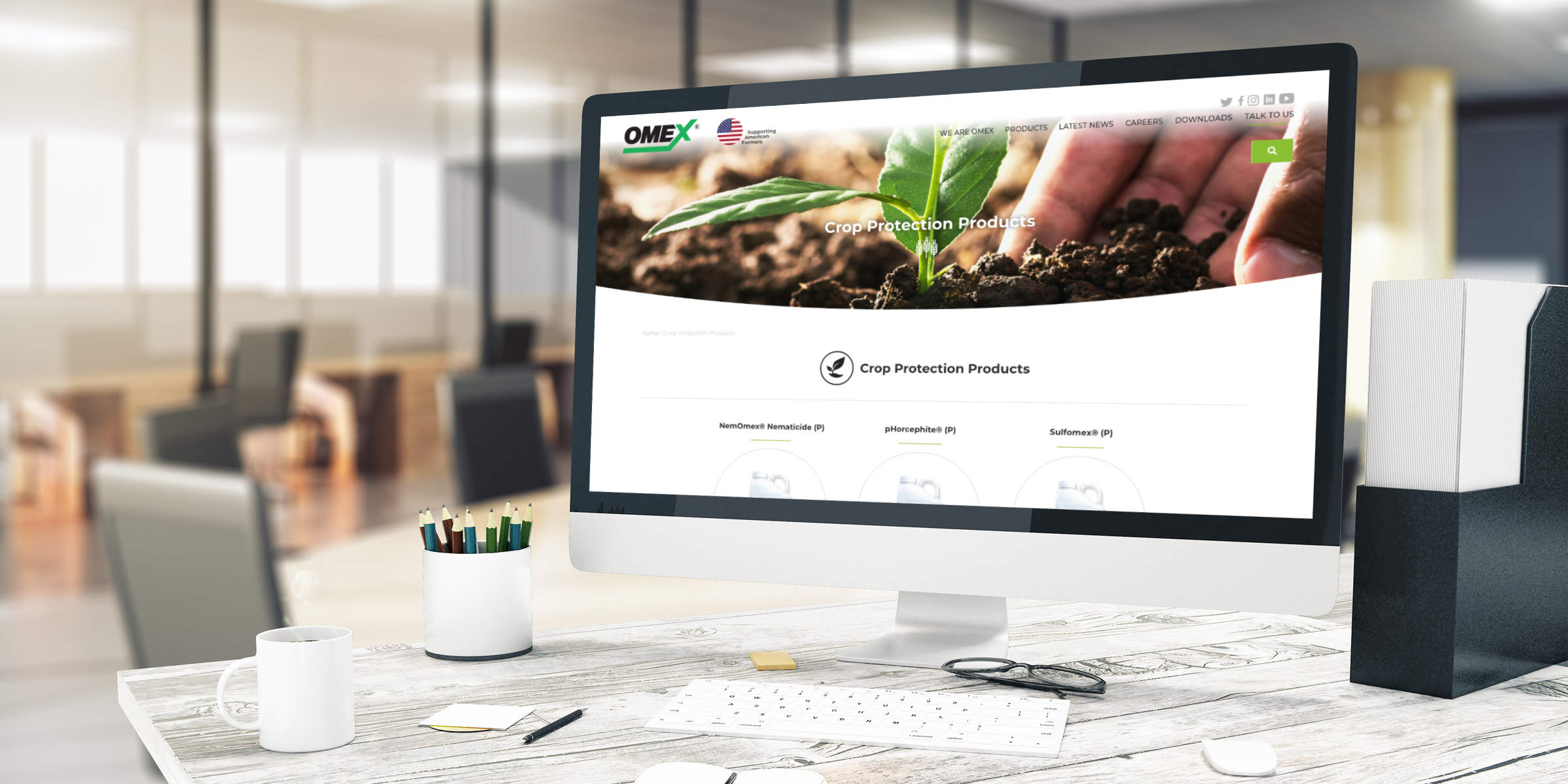 OMEX USA website design