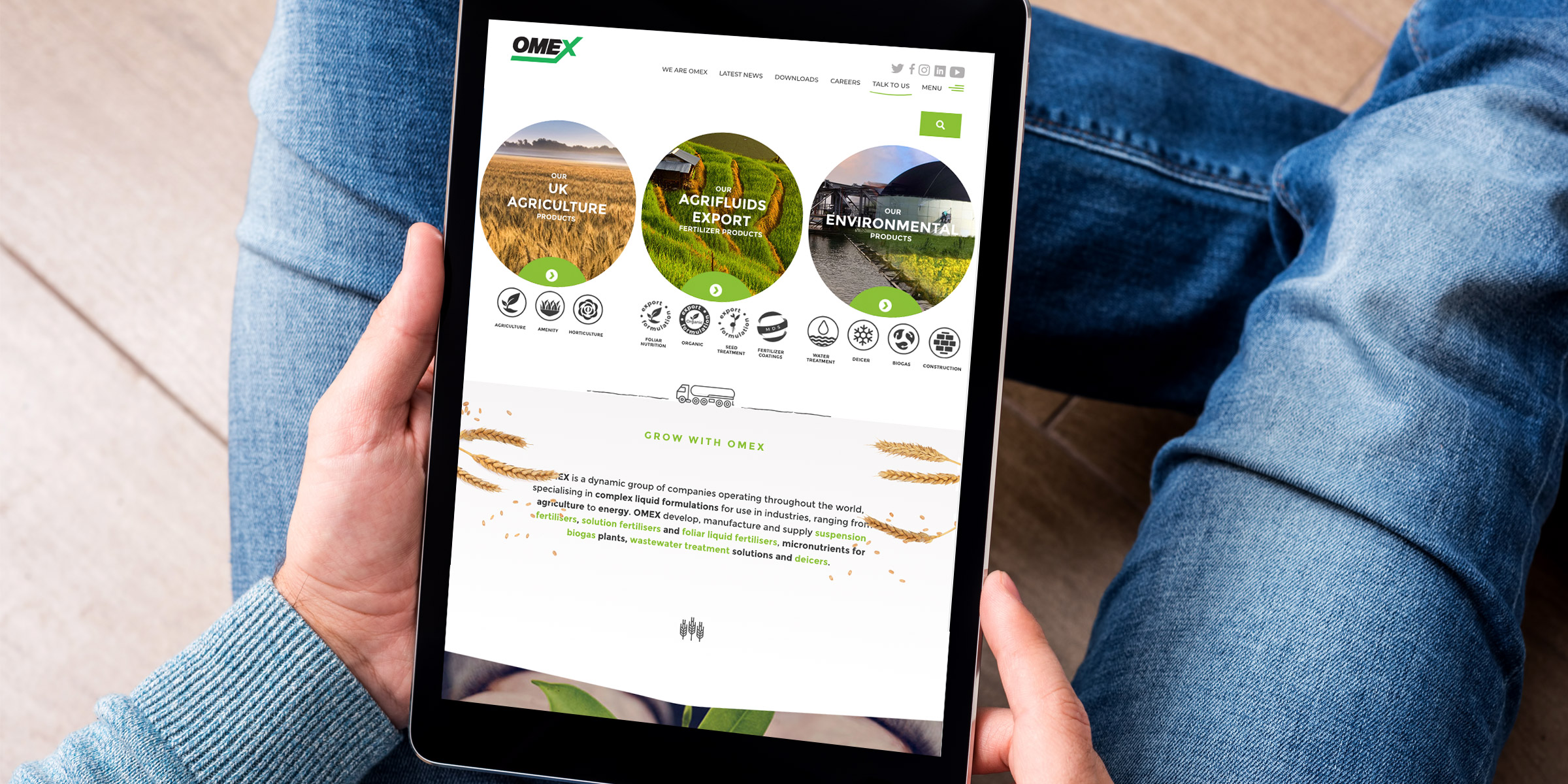 OMEX website design