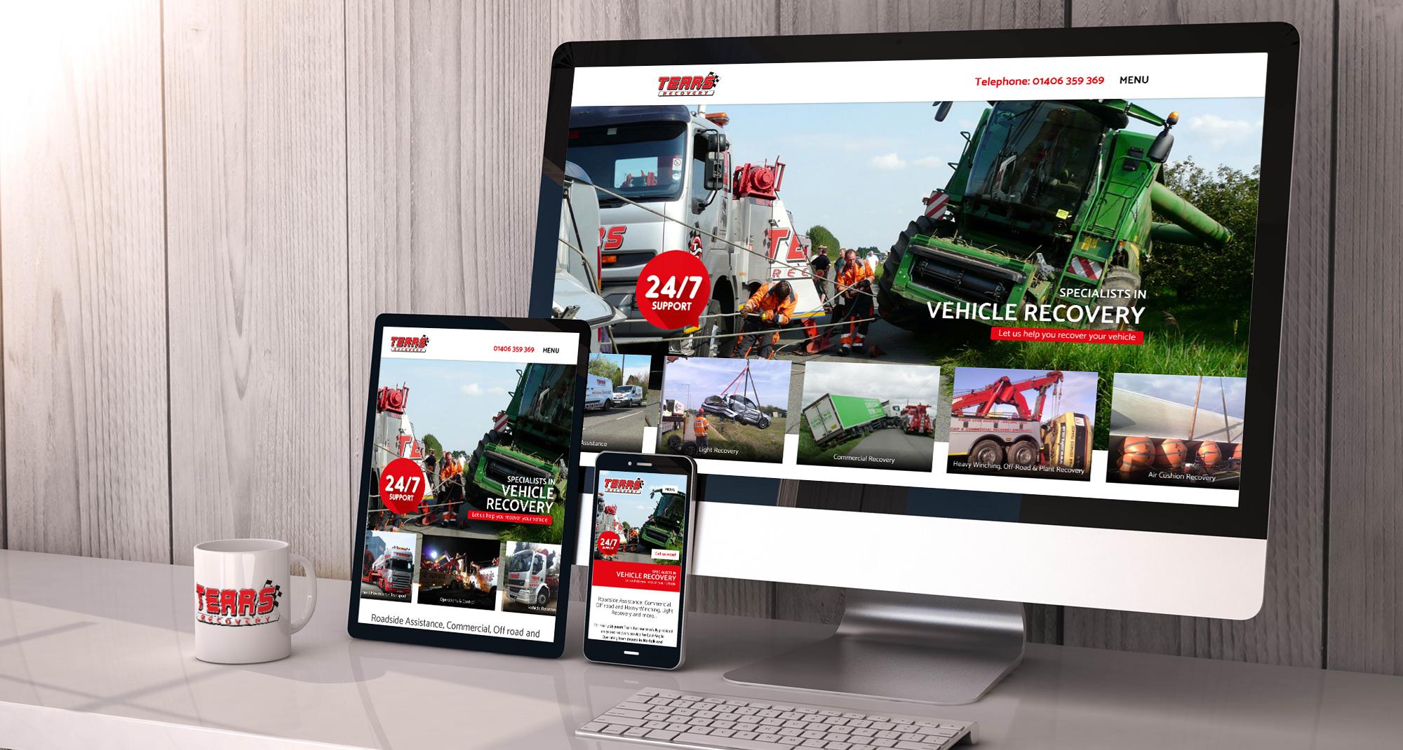 Farm Electronics website on a desktop, tablet and mobile
