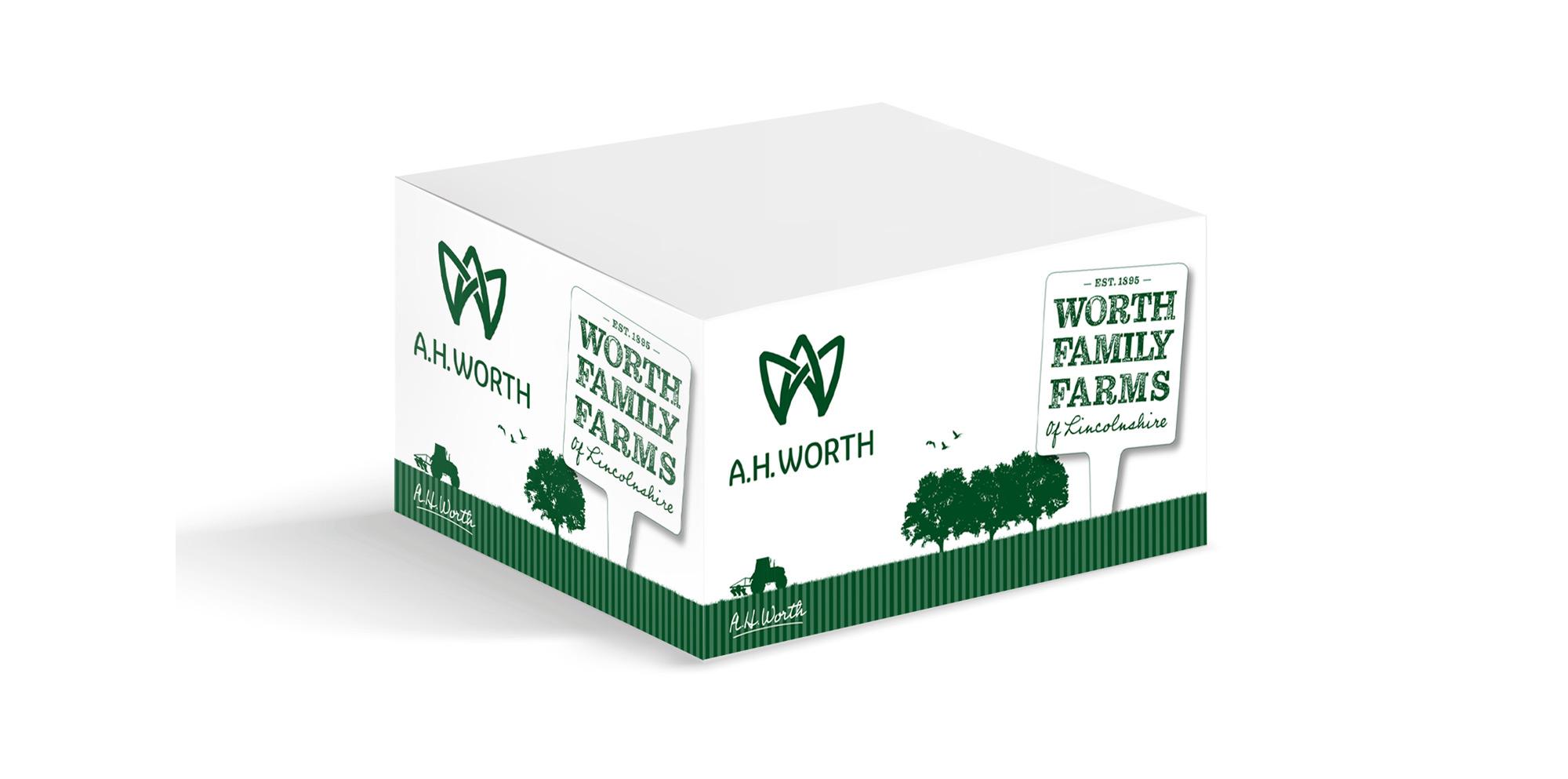 AH Worth packaging design