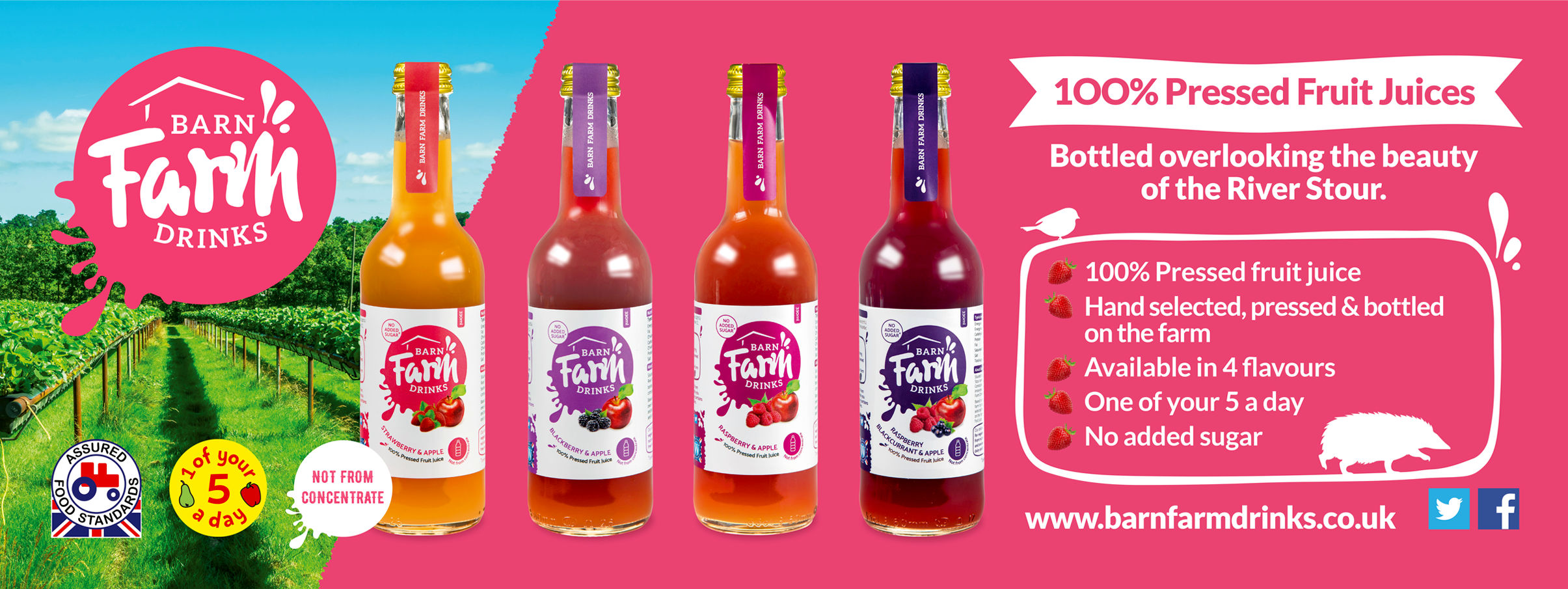Barn Farm Drinks social media banner