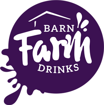 Barn Farm Drinks logo variation purple