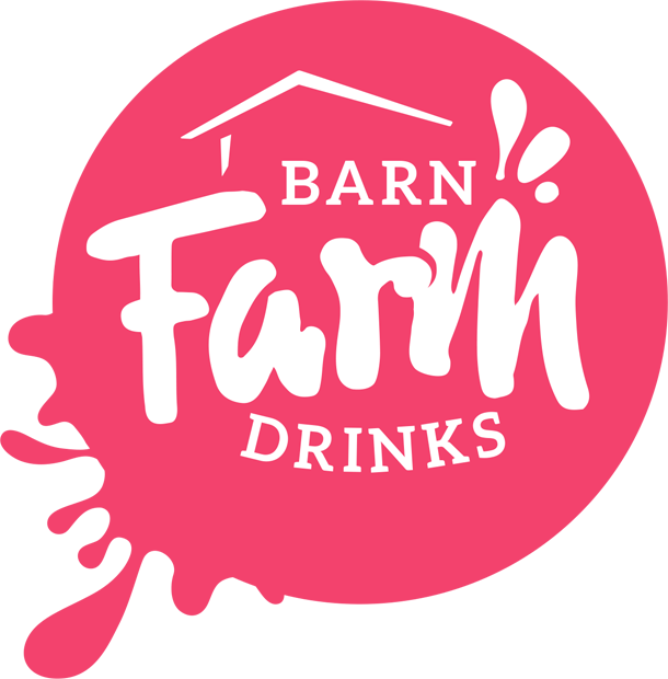 Barn Farm Drinks logo variation red