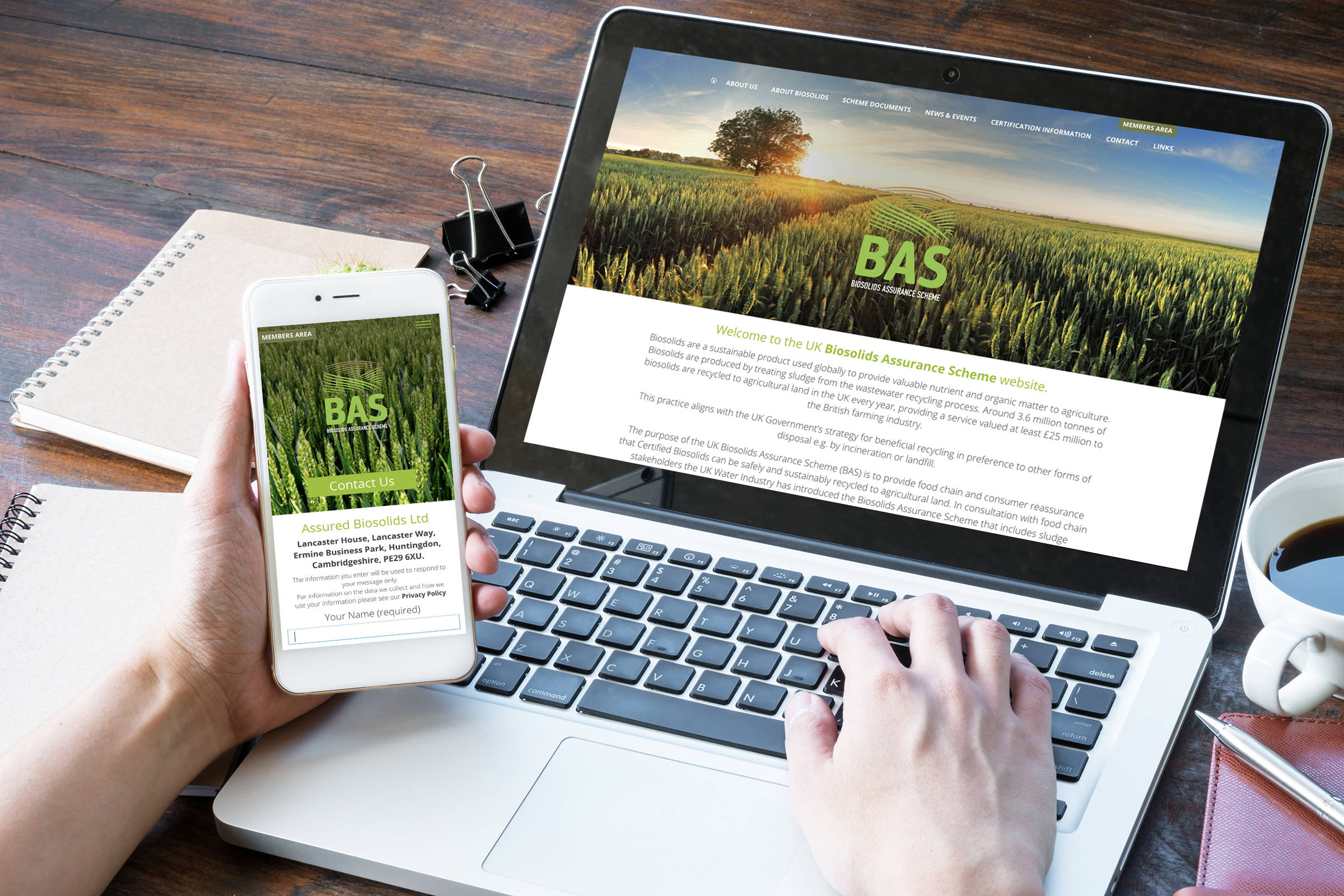 Assured Biosolids responsive website