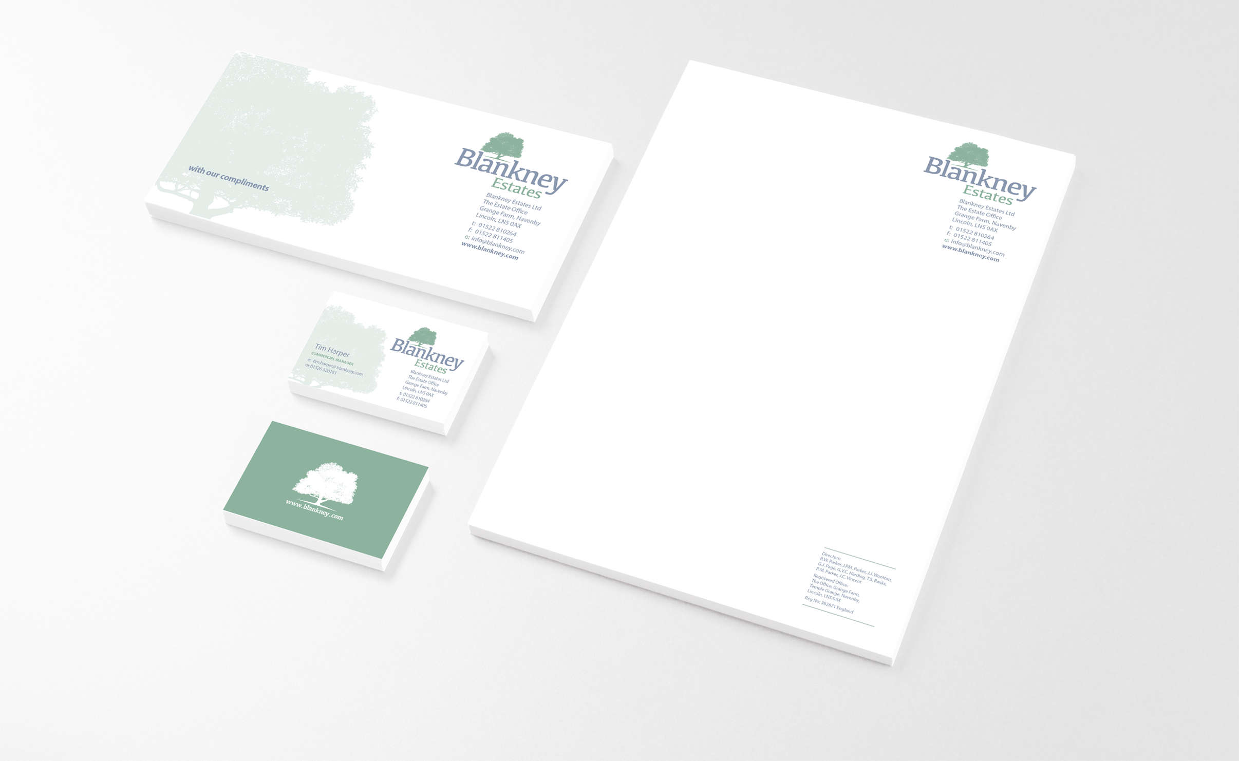 Blankney Estates literature and stationery