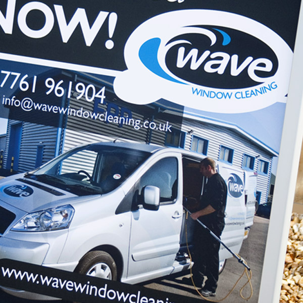 Wave Window Cleaning branding