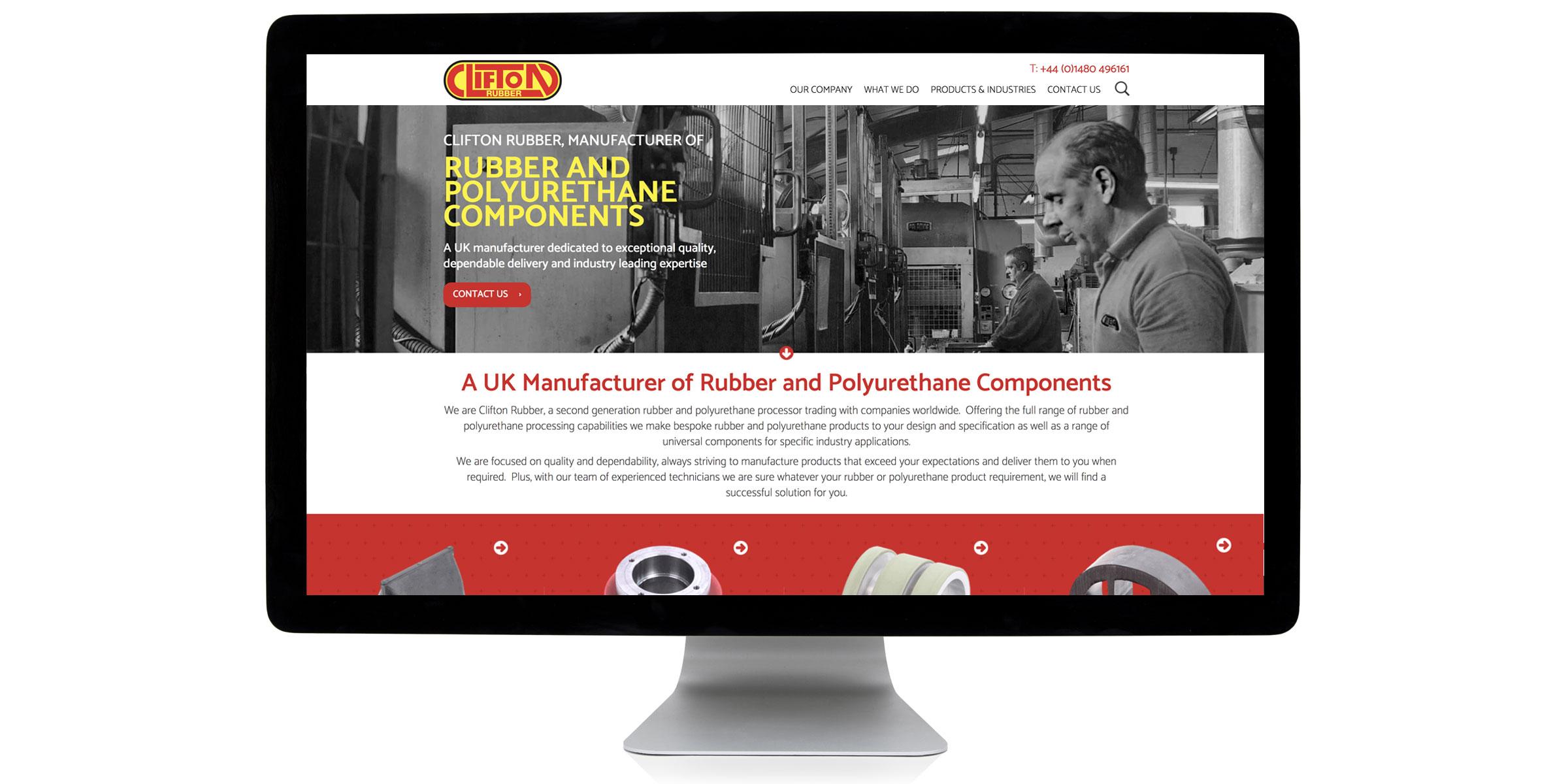 Clifton Rubber Website Design