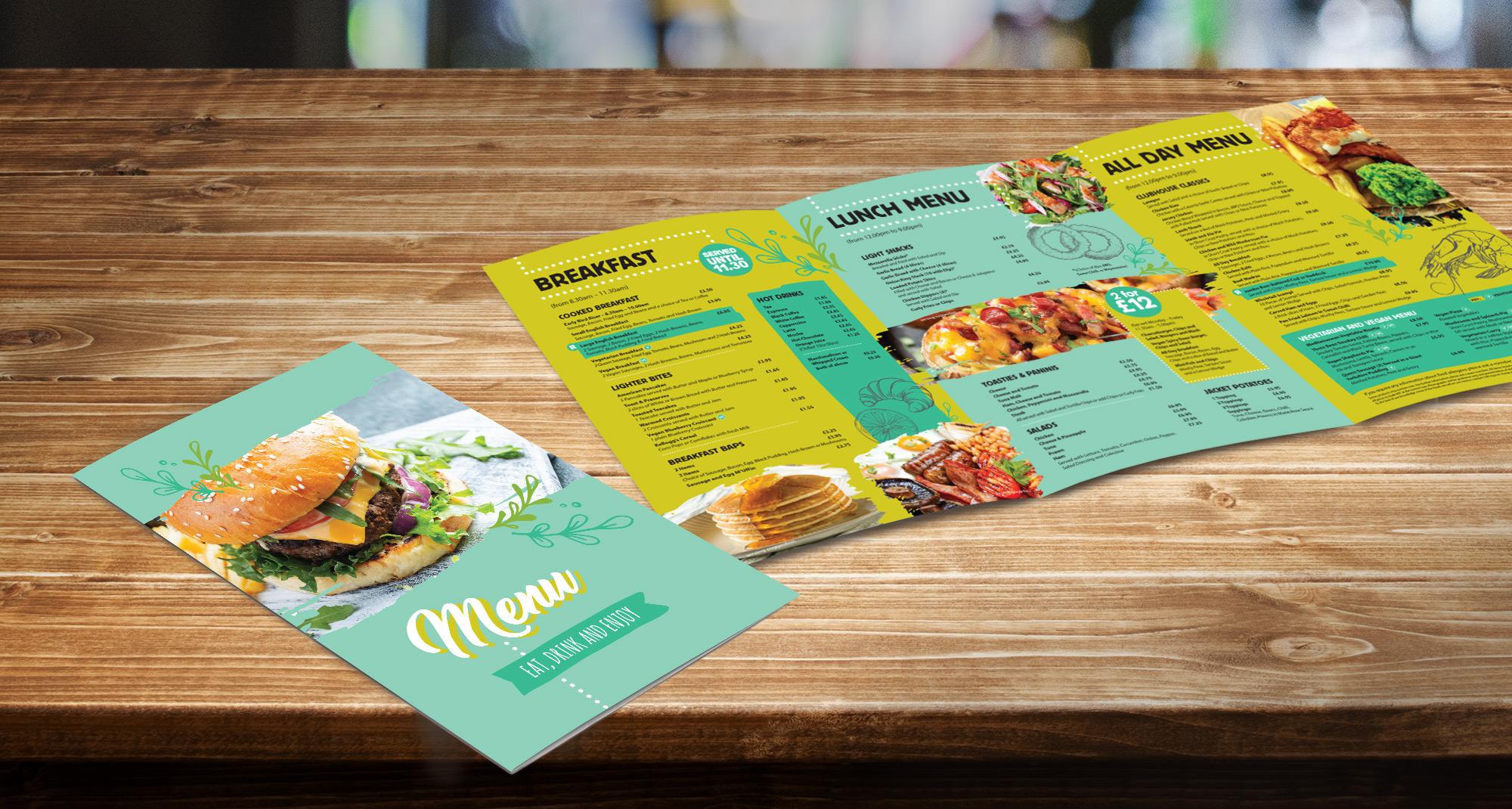 Richmond menu leaflet