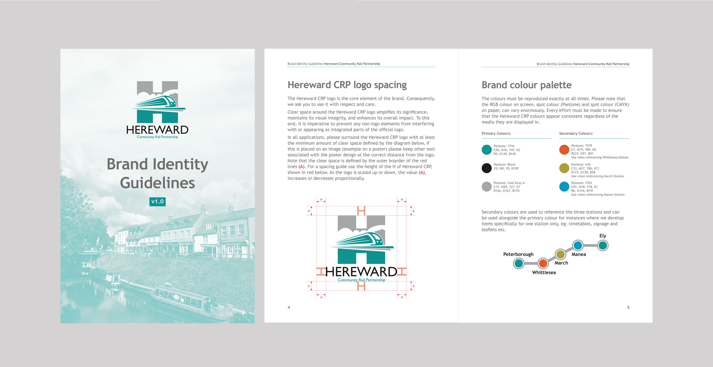 Hereward CRP brand guidelines literature