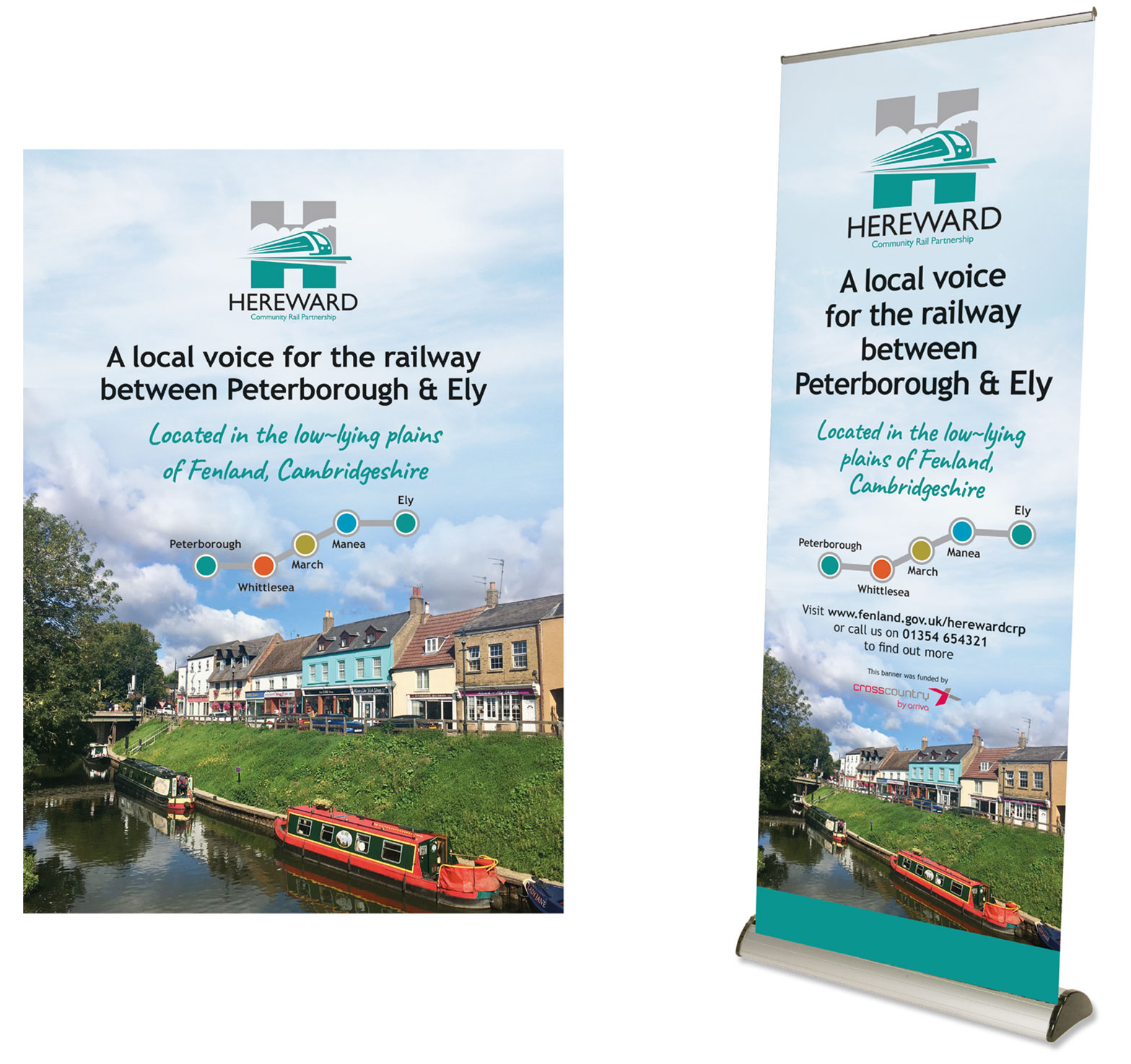 Hereward CRP pull-up roller exhibition banners