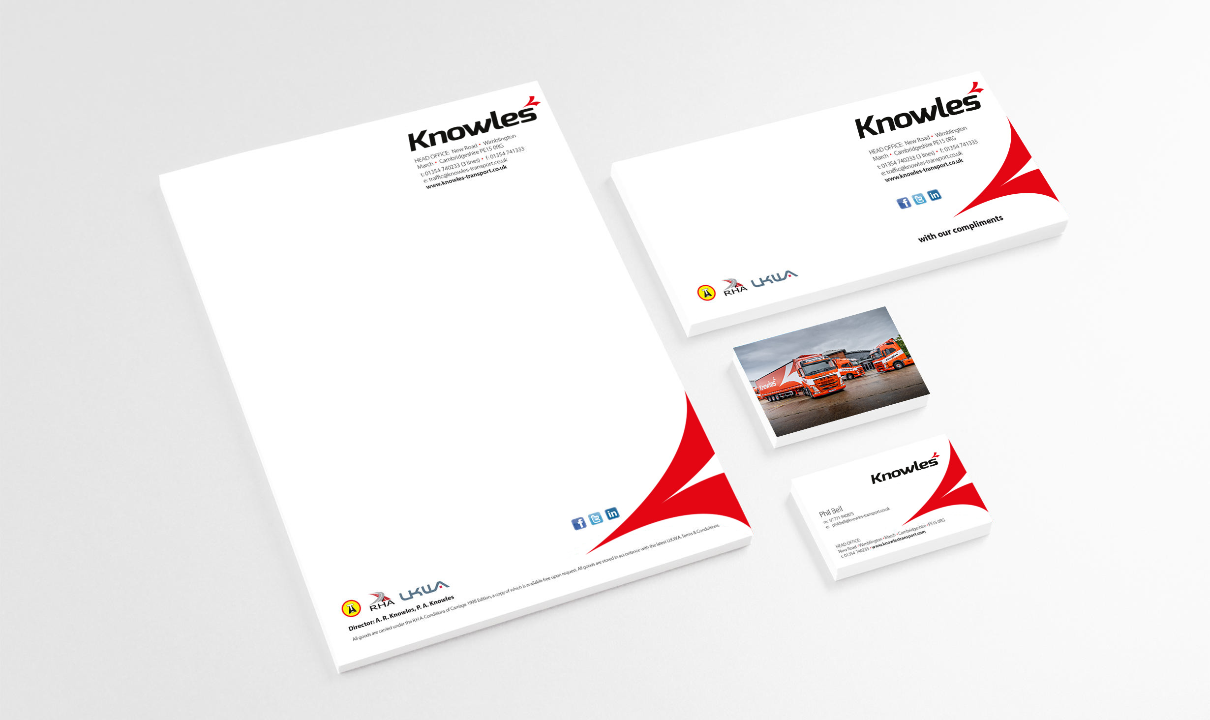 Knowles Transport corporate literature