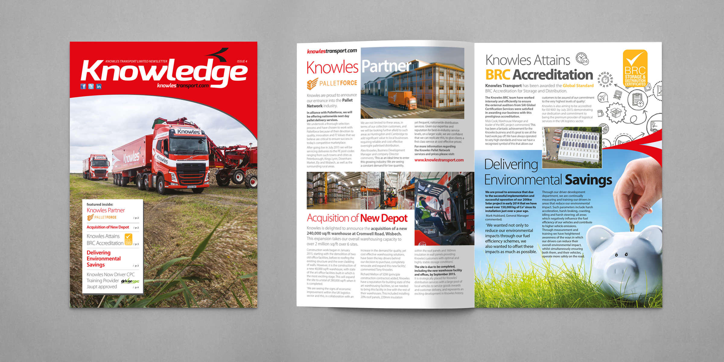 Knowles Transport printed literature