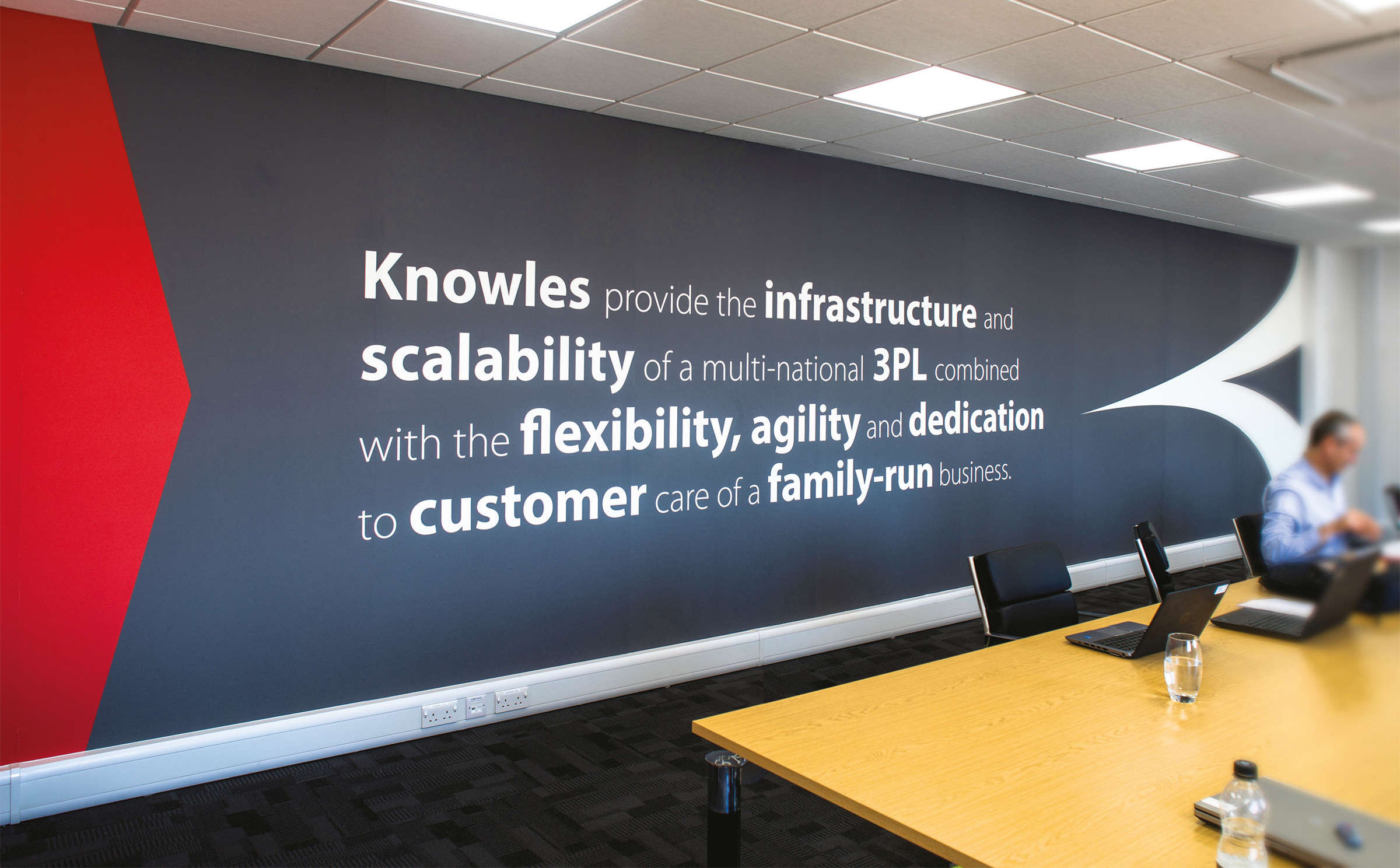 Knowles Transport office wall graphic