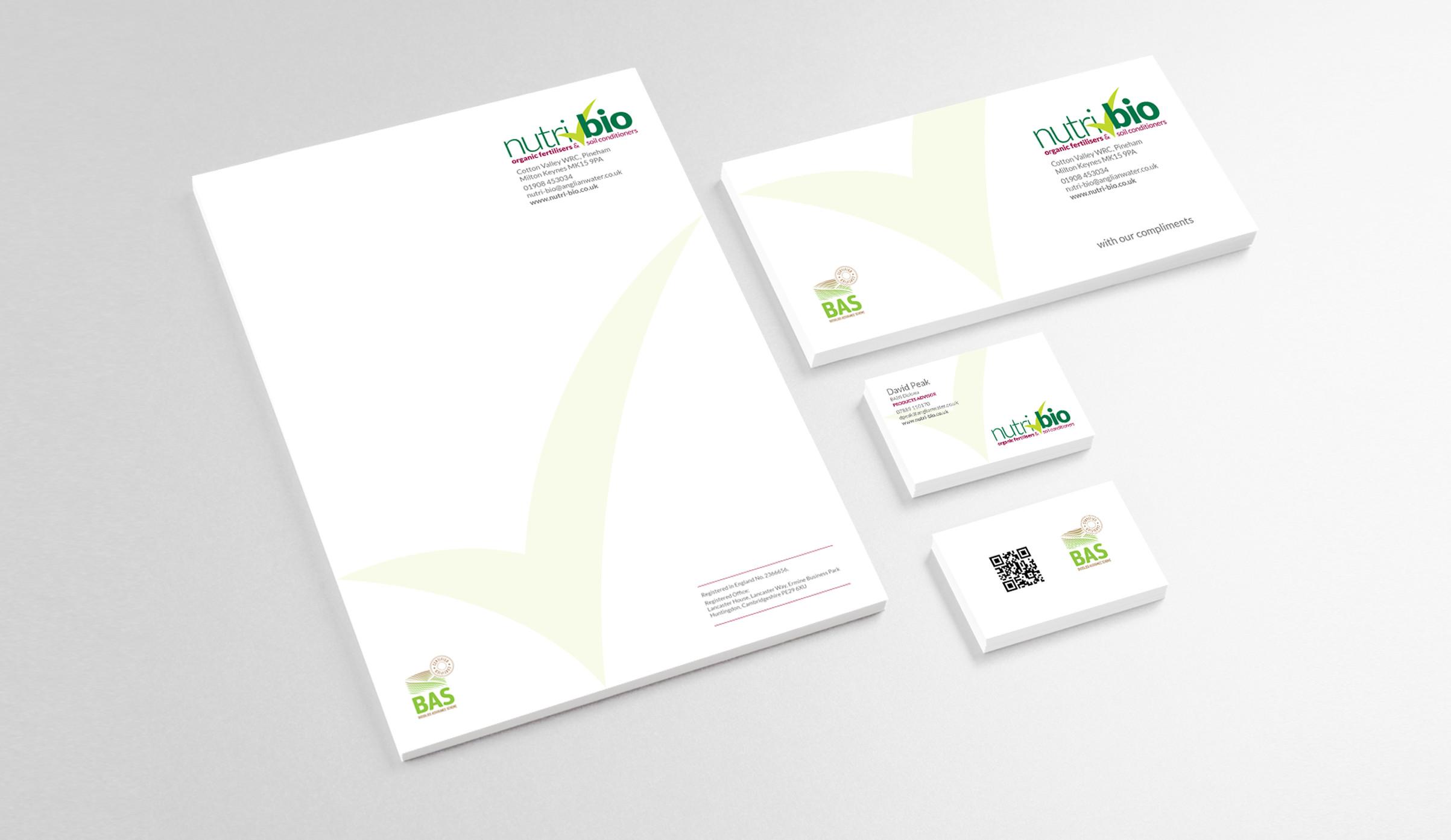 Nutri-Bio printed corporate literature