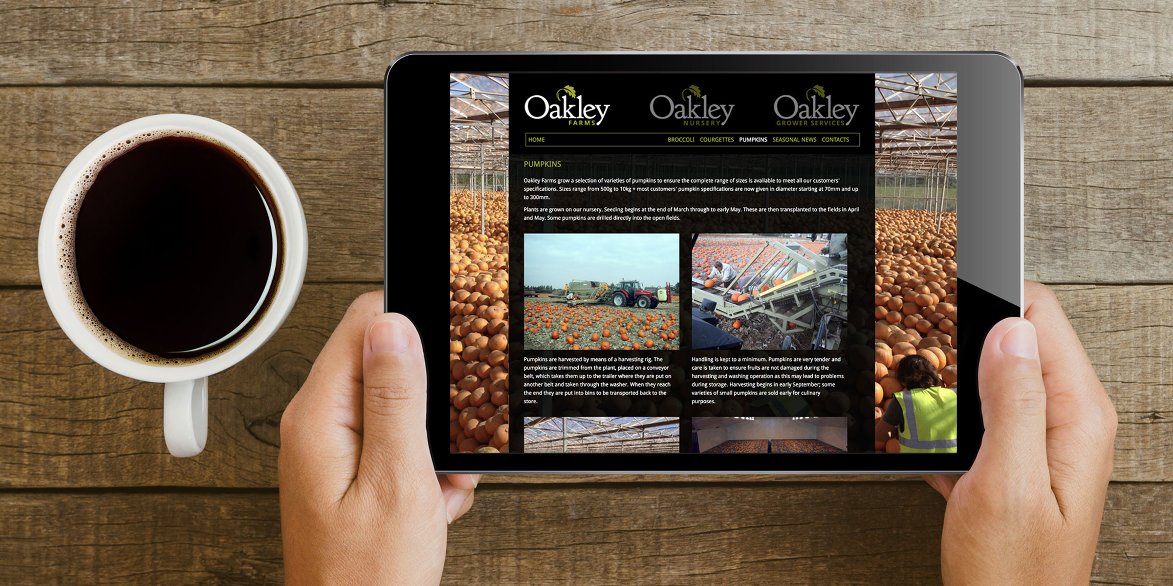 Oakly Farms Website