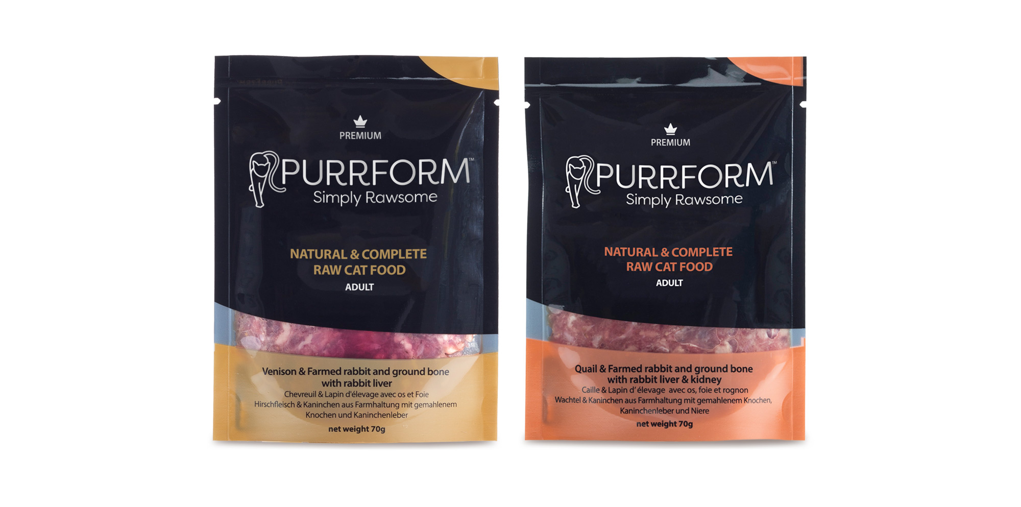 Purrform raw packaging