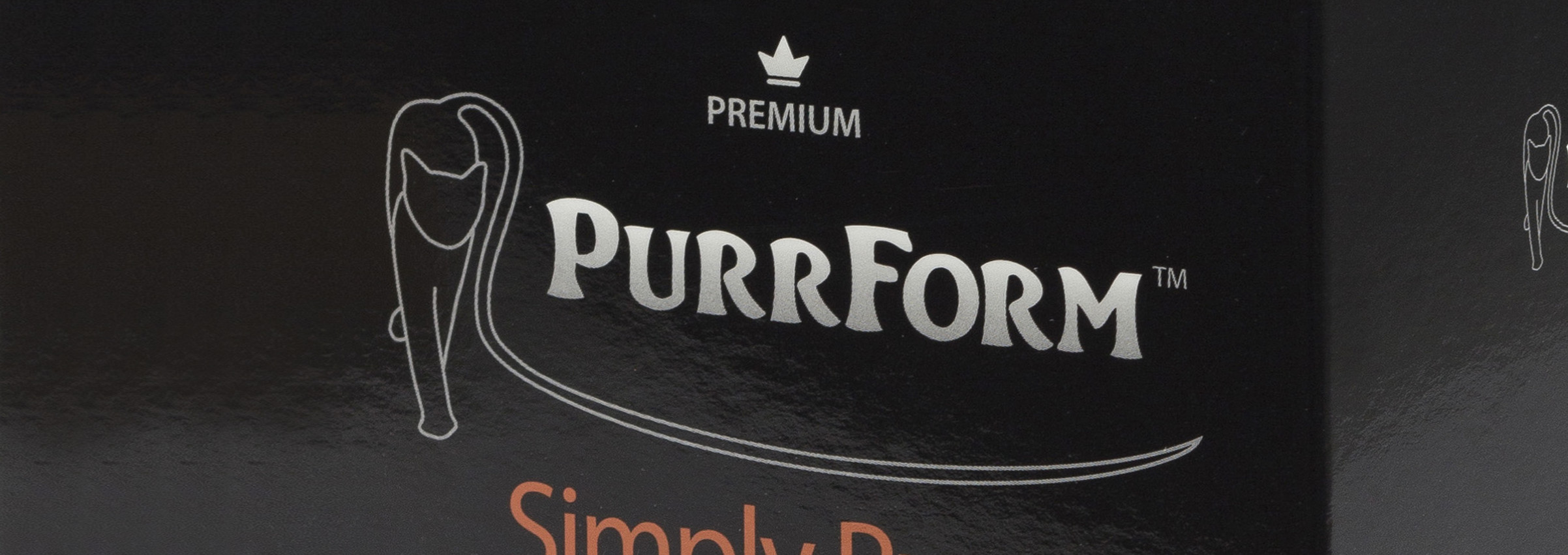 Purrform packaging close up