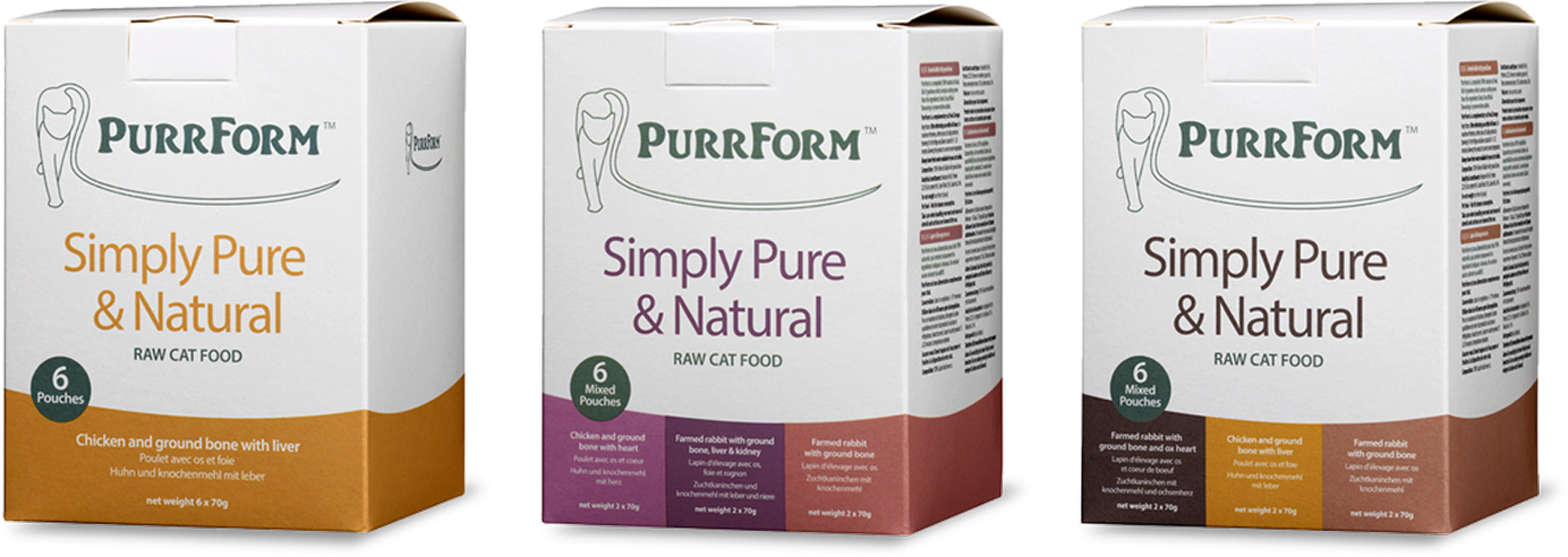 Purrform packaging photography