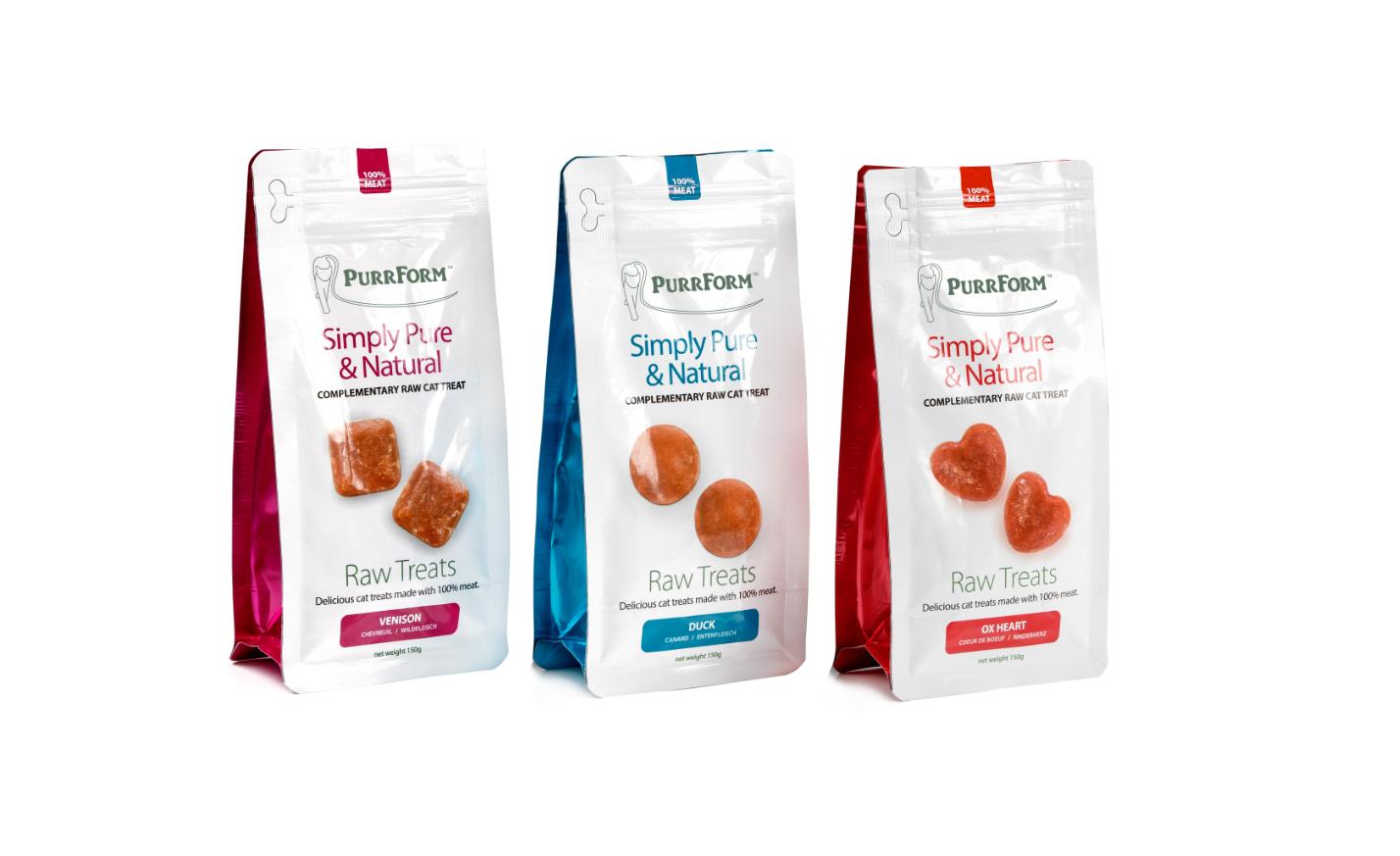 Purrform raw packaging - Raw Treats