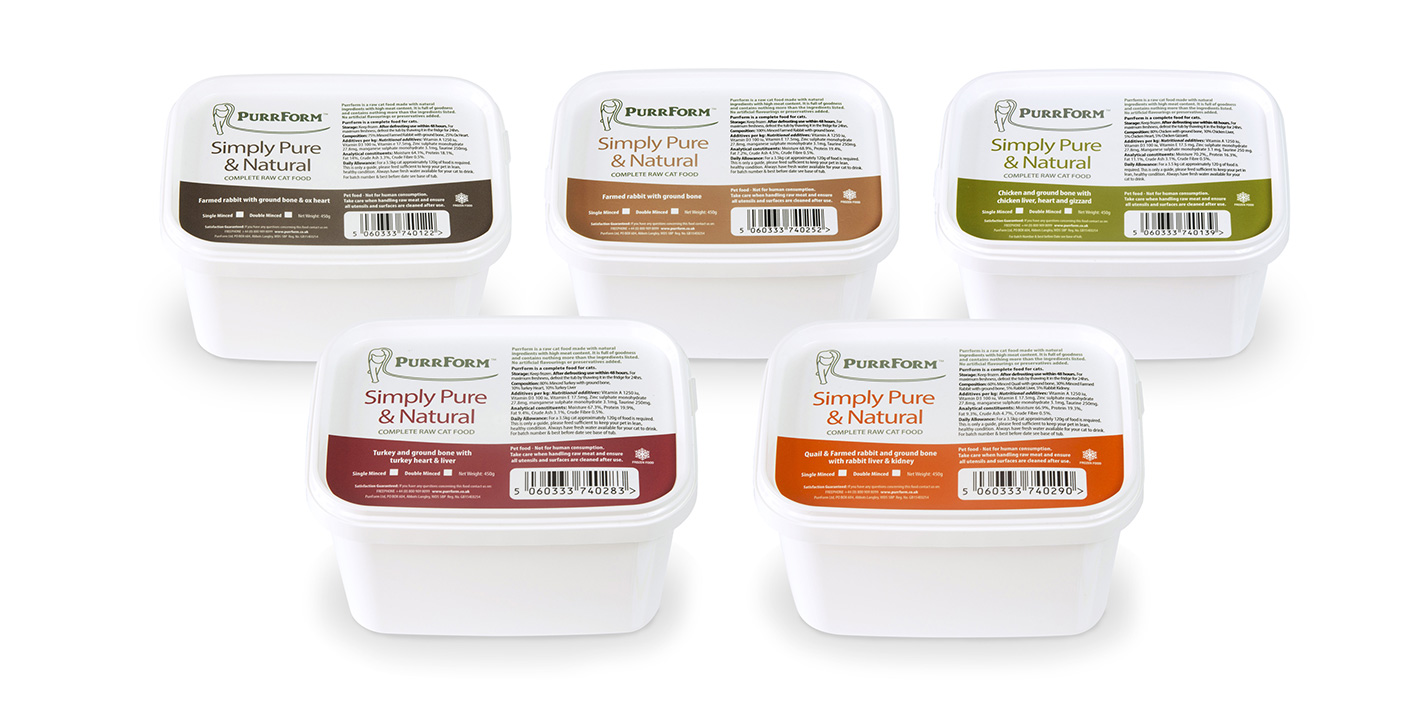 Purrform raw packaging - Tubs