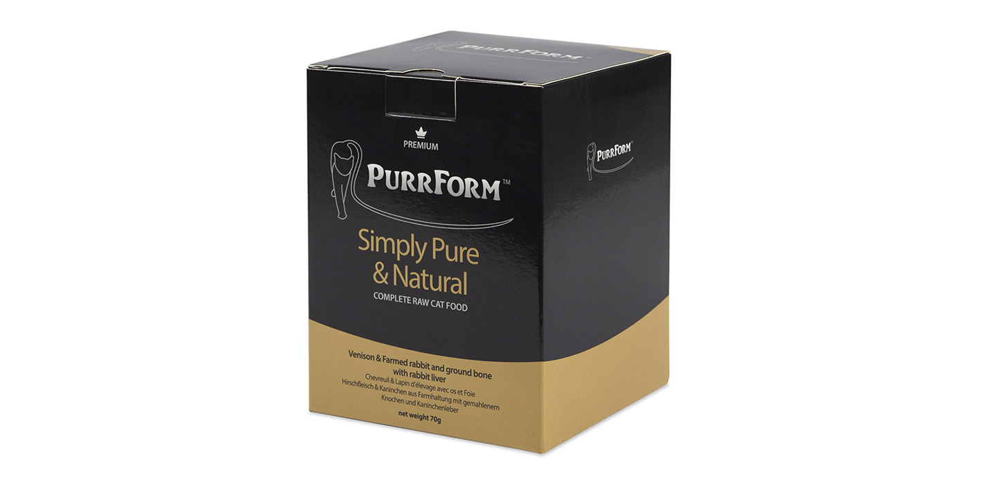 Purrform raw packaging - Premium Pouch Boxes