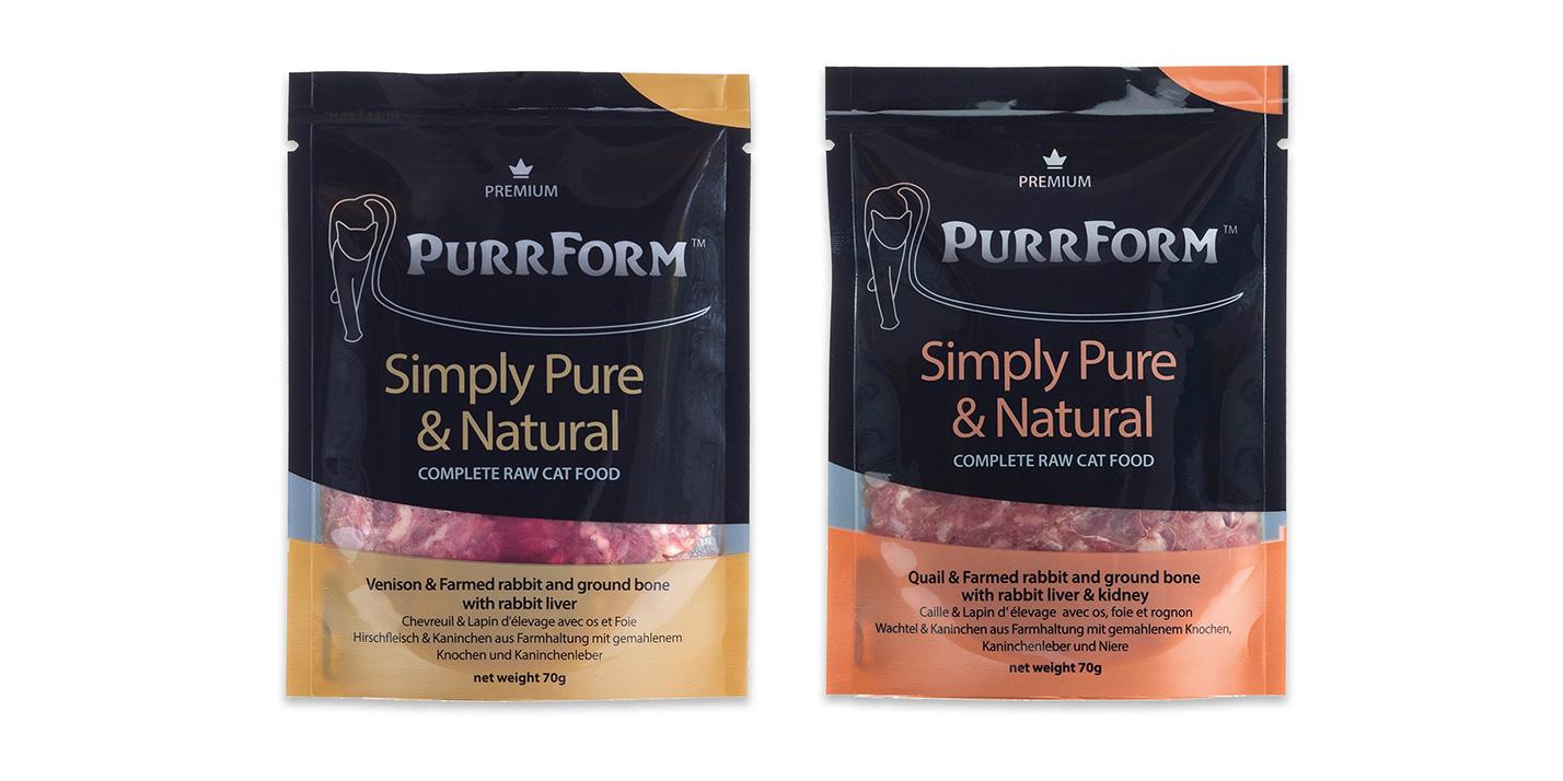 Purrform raw packaging - Preimum pouches