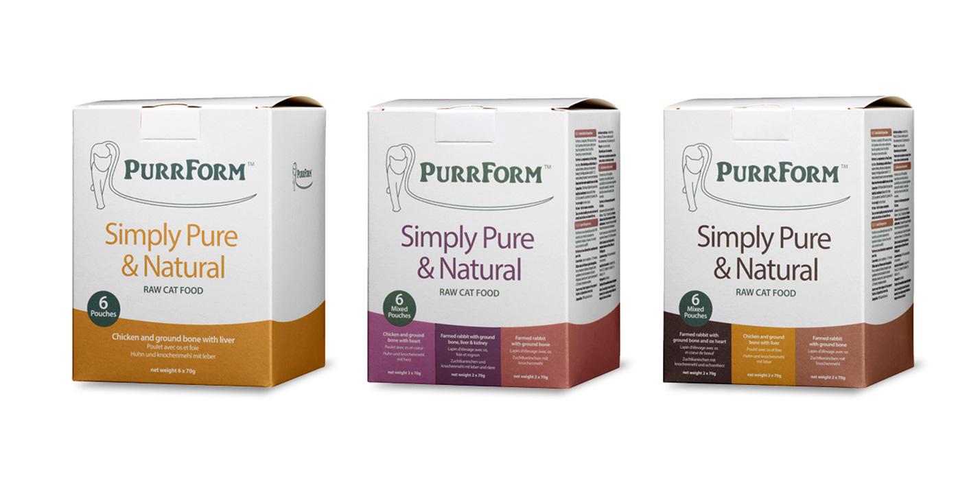 Purrform raw packaging - Standard Pouch Box