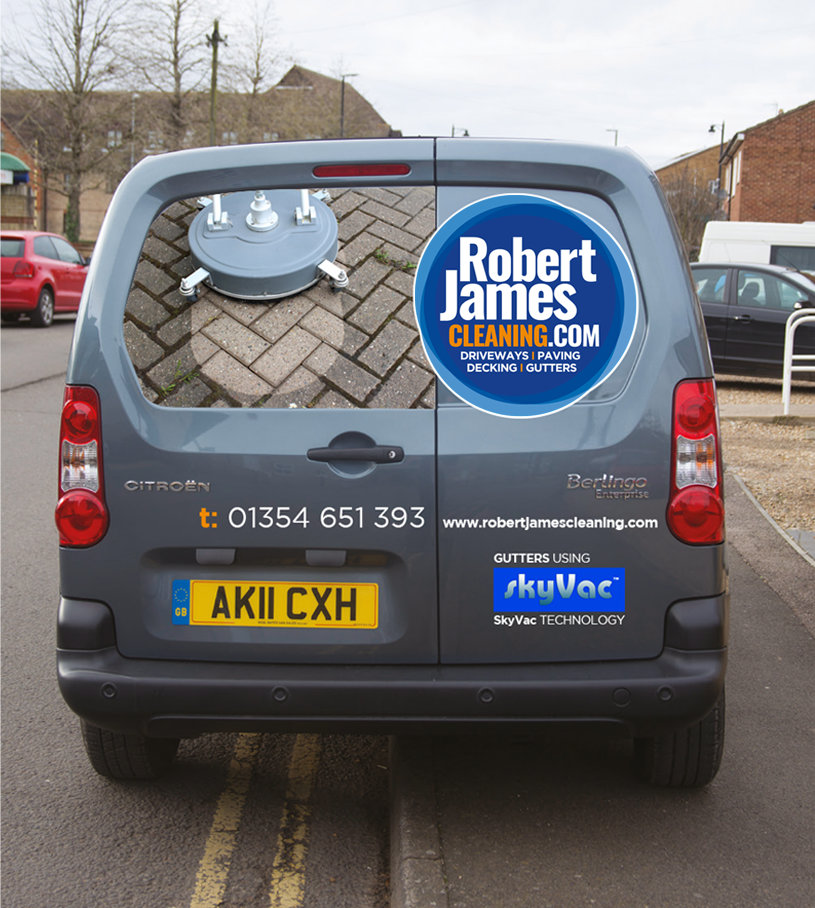 Robert James Cleaning van vehicle livery rear