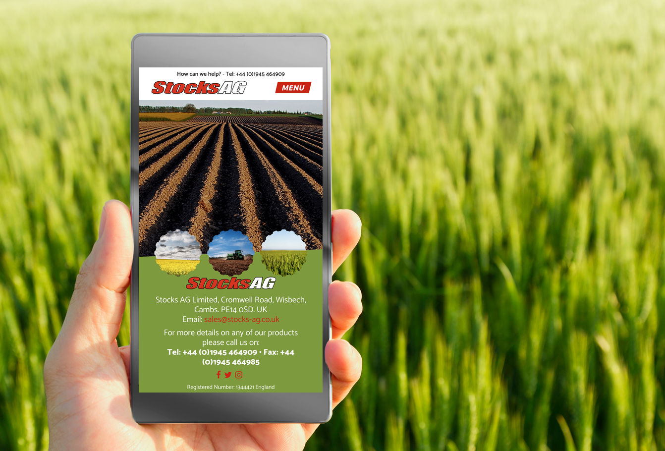 Stocks AG website on mobile