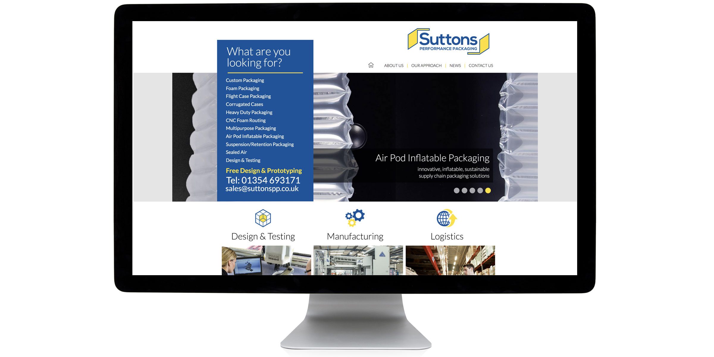 Suttons Performace Packaging Website