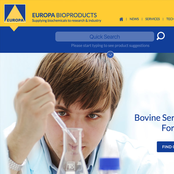 Europa Bio-products Website