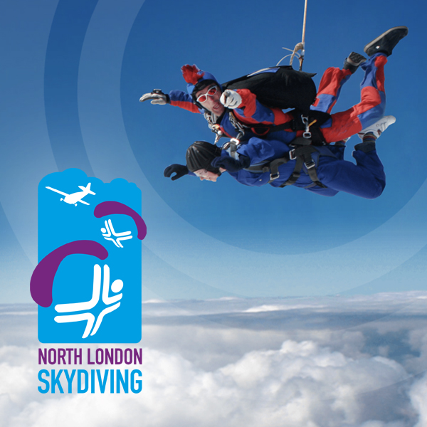 North London Skydiving brand identity