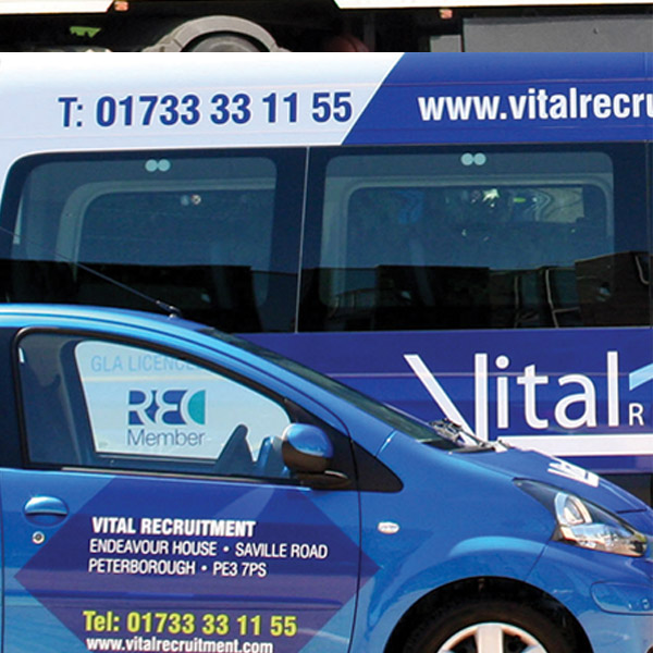 Vital Recruitment vehicle Livery Graphics