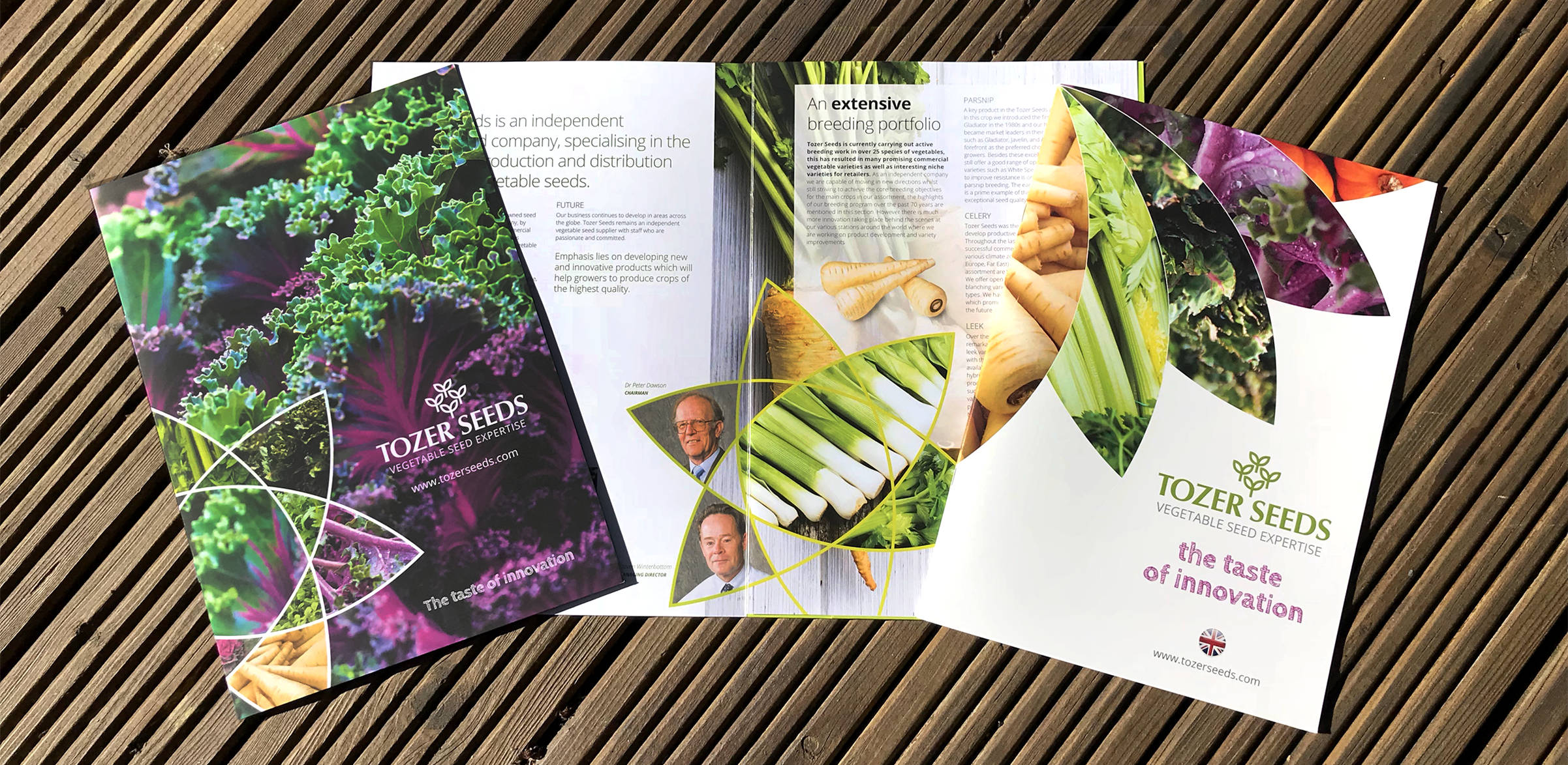 Tozer Seeds corporate branding literature