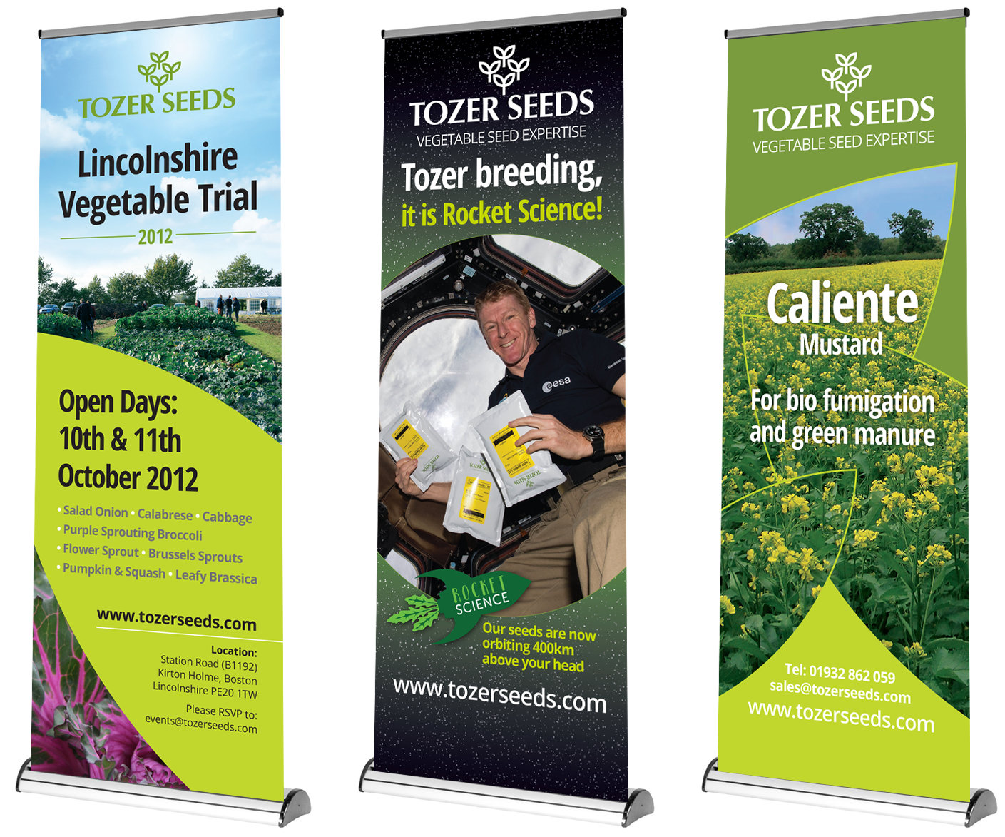 Tozer Seeds branding on exhibition stands