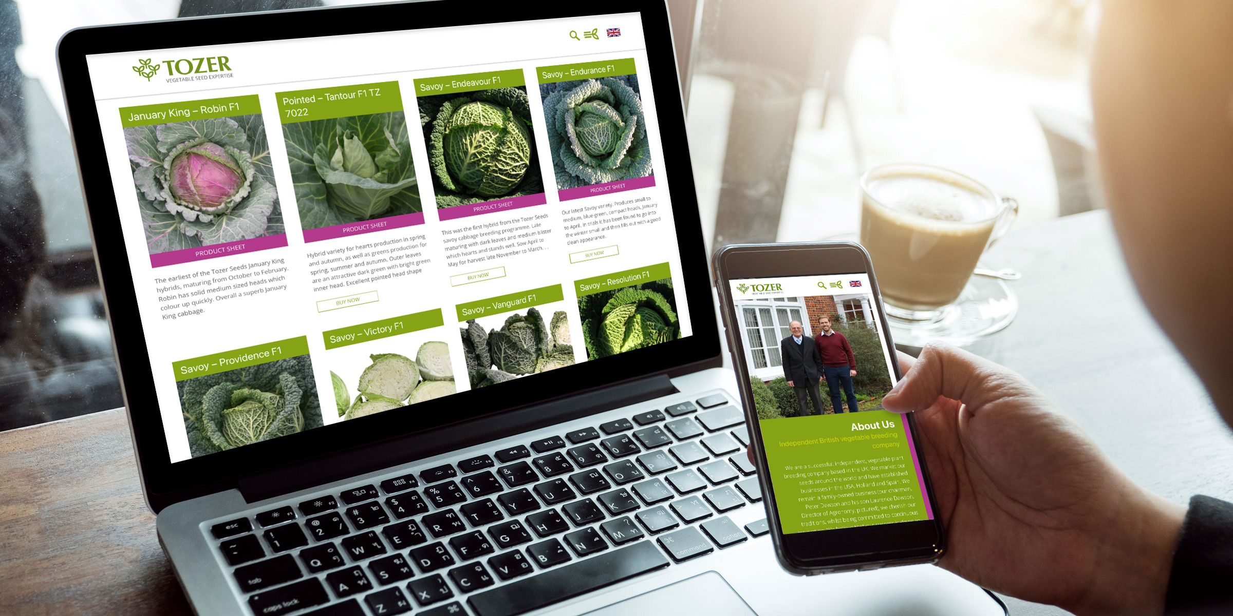 Tozer Seeds responsive website