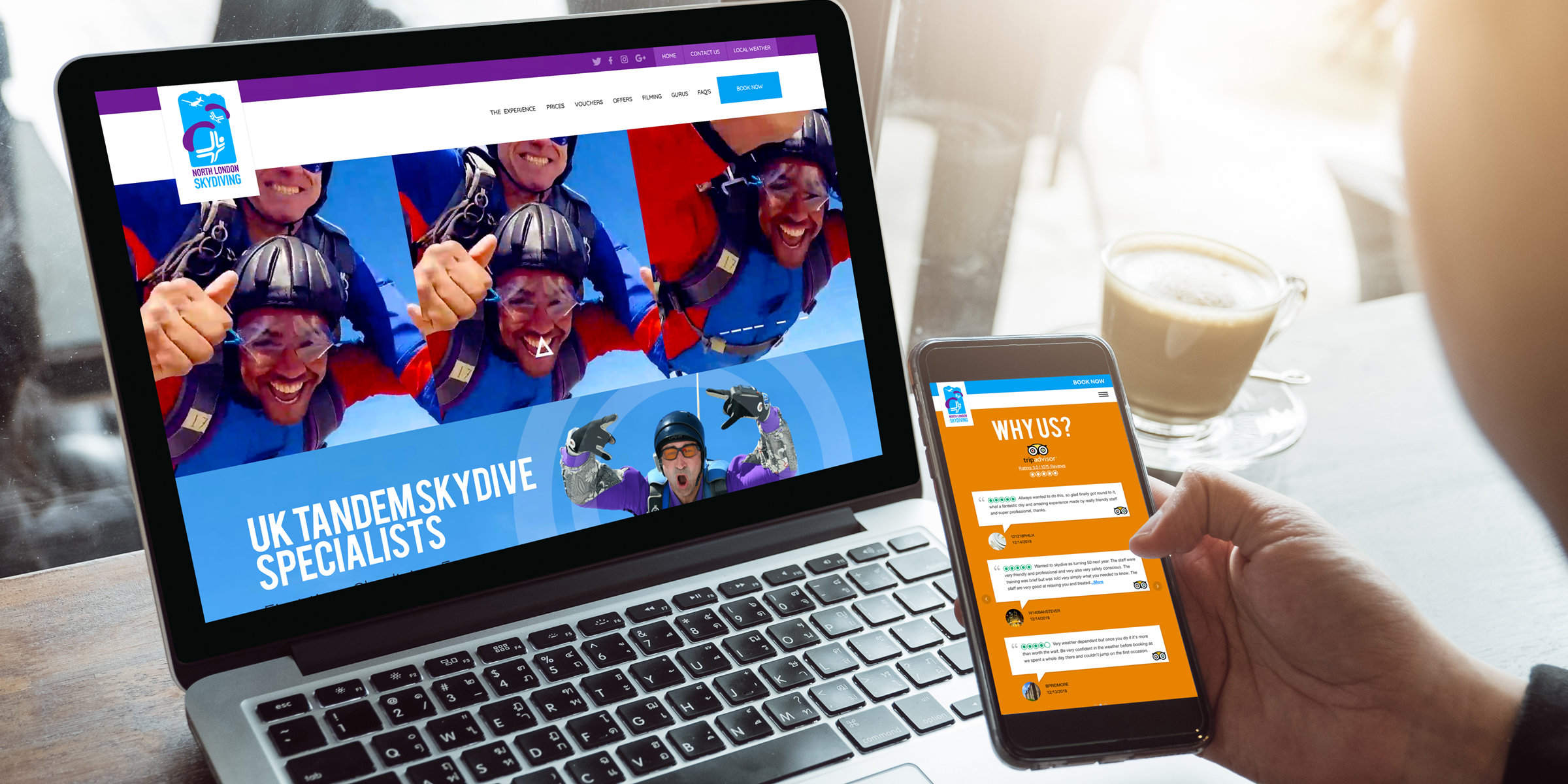 North London Skydiving responsive website