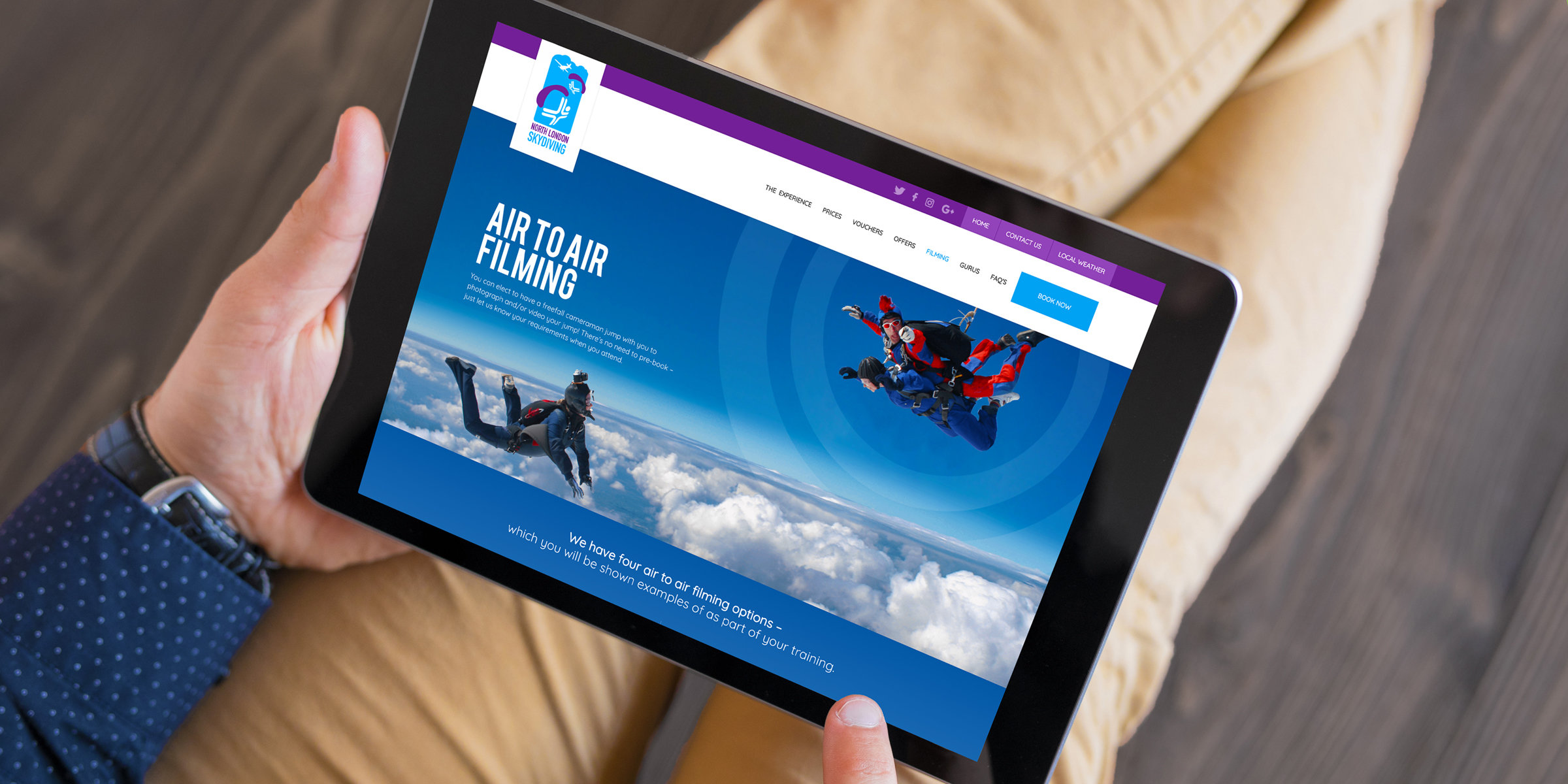 North London Skydiving Website