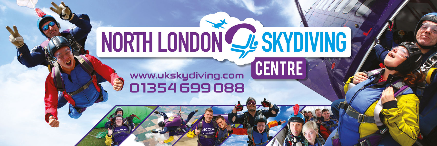 North London Skydiving website banner advertisement