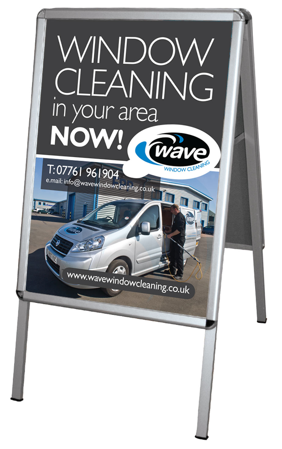 Wave Window Cleaning branded Signage