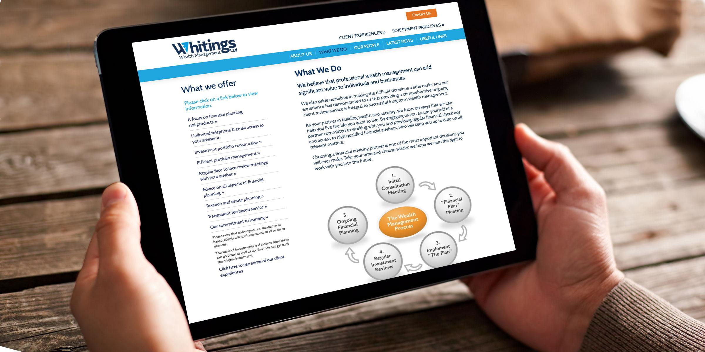 Wealth Management website design and build