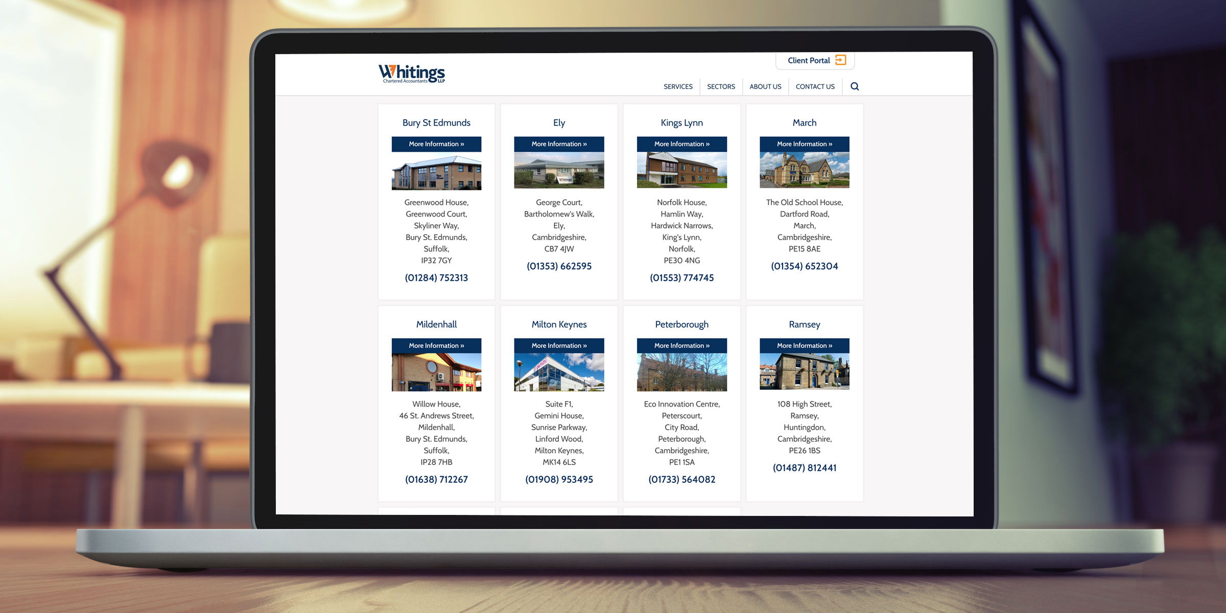 Whiting and Partners website
