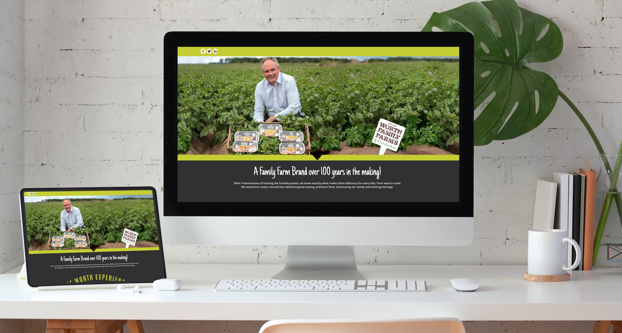Worth Family Farms website