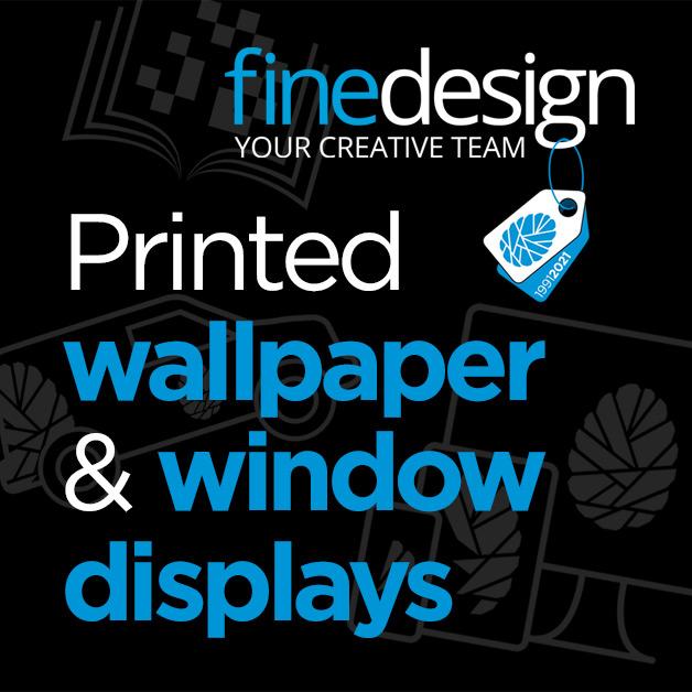 Printed wallpaper and window displays